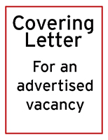 Sample covering letter for an advertised job thumbnail