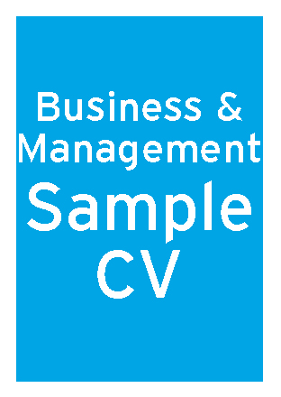 Business and Management sample CV thumbnail