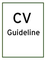 skills and experience cv