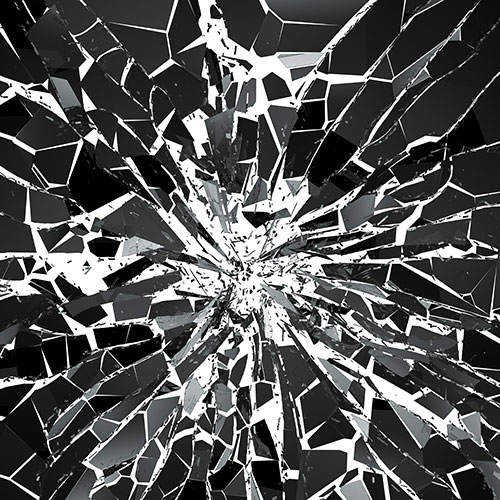 A smashed mirror