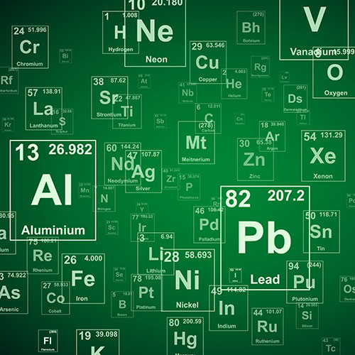 Chemical elements from a periodic table