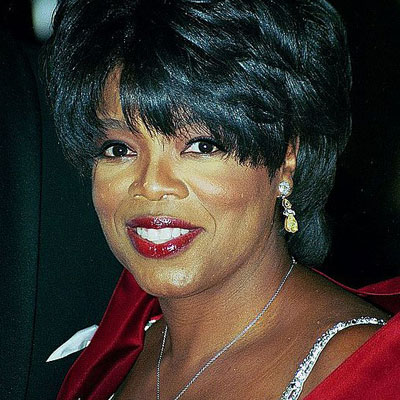 A portrait of Oprah Winfrey