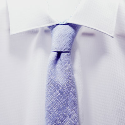 A white shirt and tie