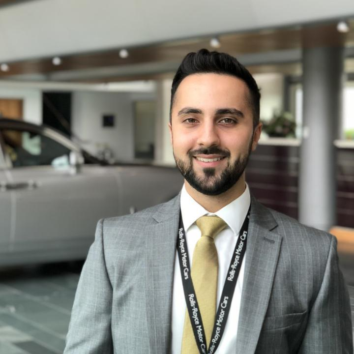 A profile picture of Jaraad Khan, placement student at Rolls Royce