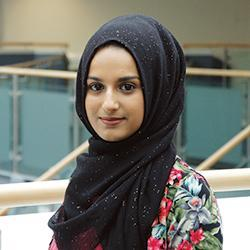 a profile picture of Taaibah Hussain, placement student