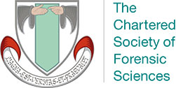 The Chartered Society of Forensic Sciences crest.