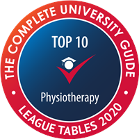 Complete University Guide 2019 2nd place Physiotherapy