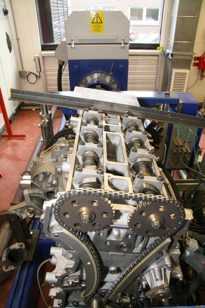 engine being tested in mechanical engineering