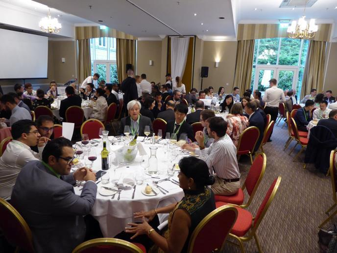 Guests sat at tables at the ICSAS dinner 2019