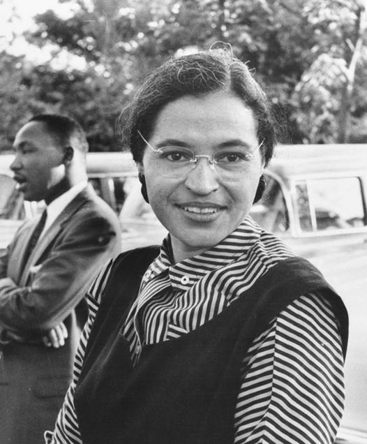 Rosa Parks with Dr Martin Luther King jr circa 1955