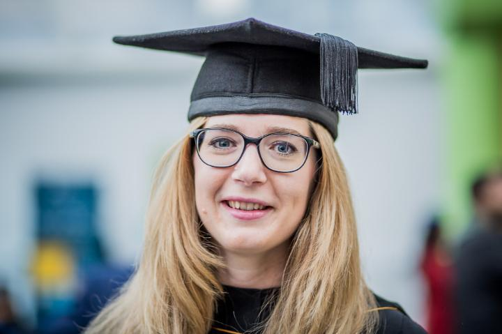 Katharina Bach, MBA Distance Learning Student at Graduation