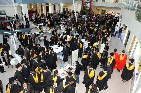 Students graduating at the University of Bradford