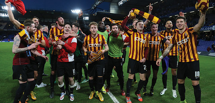 Players from Bradford City Football Club